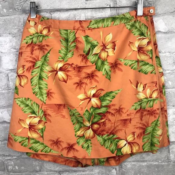 Tommy Bahama Dresses & Skirts - Tommy Bahama   Silk Skort Hawaiian Print